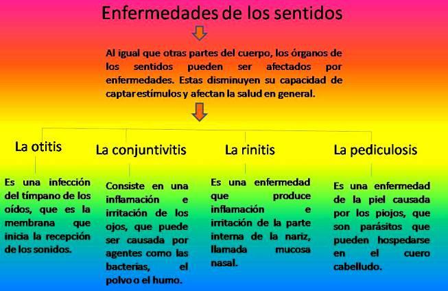 Enfermedades que afectan a los cincos sentidos