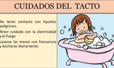 ¿Cómo cuidar el tacto? Para niños